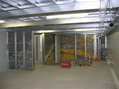 Leaded walls for radiography bunkers.
