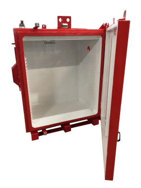 One-piece leaded cabinet - 10 mm lead.