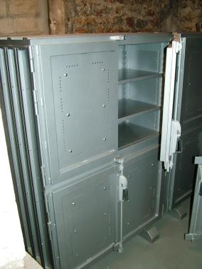 National Museum of Natural History - Paris - France - Leaded cabinet for the storage of radioactive minerals.