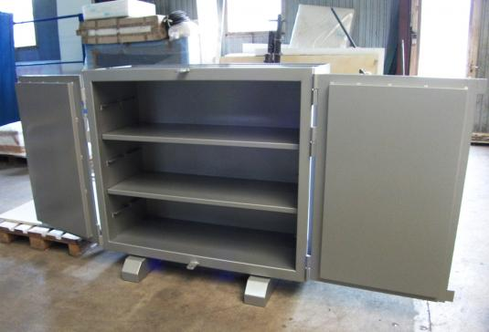Nice - France - Leaded cabinet for the storage of radioactive minerals.