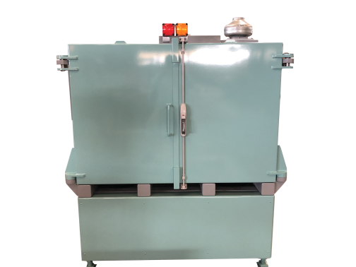 One-piece radiation protection cabinet - 10 mm lead, double door.