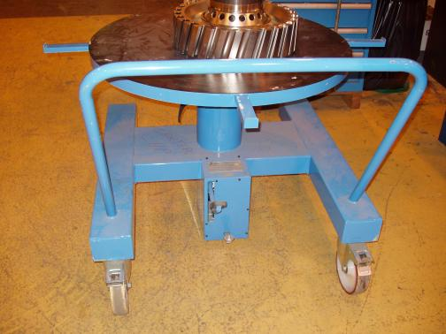 rolling cart with hydraulic elevator table