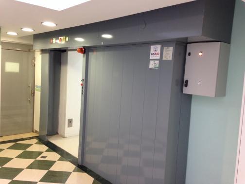 Jerusalem - Israel - Sliding doors radiotherapy centre.