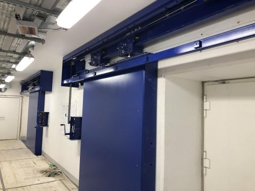 Rolls Royce - Derby - UK - Sliding shielded doors. 6 tonne lead radiation protection.