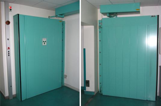 Hôpital Tenon - Paris - France - Swing door opening to the outside.